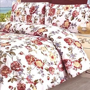 Traditional At Home Bedding - 6 Pcs Queen Sheet Set, Luxury Cotton Percale